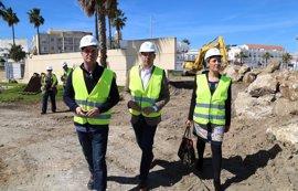 La Junta acomete las obras del nuevo acceso peatonal al puerto de Rota que mejorará la integración con la ciudad