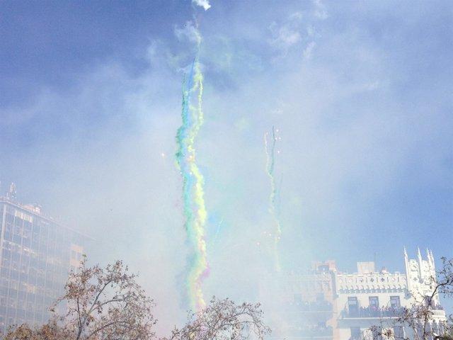 Mascletà de Pirotecnia del Mediterráneo este martes en la Plaza del Ayuntamiento
