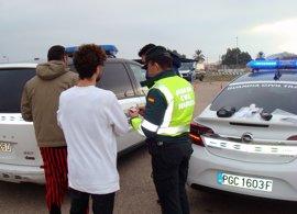 La Guardia Civil controla a 10.335 conductores durante el Carnaval, de los que 23 han sido detenidos por conducir ebrios