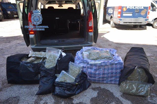 Decomisan 70 kilos de marihuana en La Jonquera