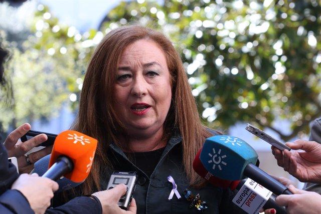 La portavoz de Igualdad y Políticas Sociales del PSOE-A, Soledad Pérez