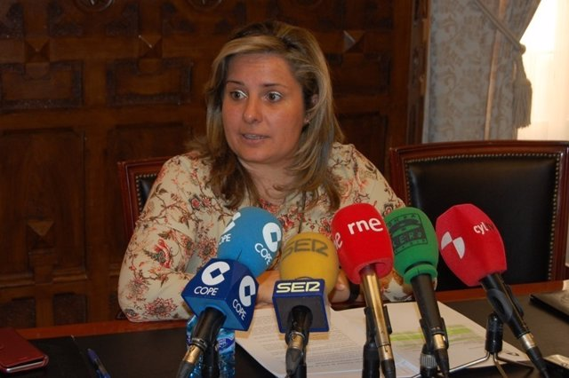 La vicepresidenta de la Diputación de Soria, Esther Pérez