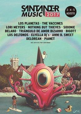 Cartel del Santander Music 2017