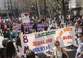 Manifestaciones y concentraciones en toda Andalucía por el Día Internacional de la Mujer