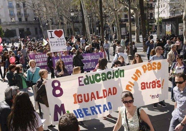 Movilización con motivo del 8 de marzo en Sevilla