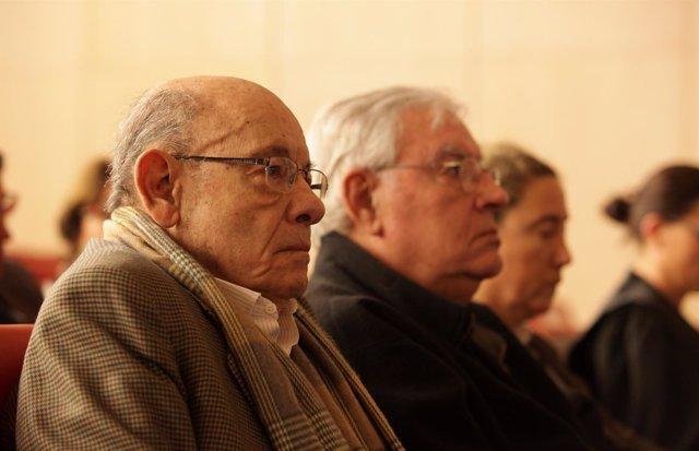 Fèlix Millet y Jordi Montull en el juicio del caso Palau