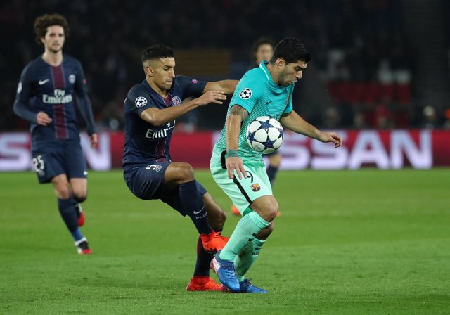 Luis Suárez en el PSG-Barcelona