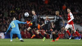 El Bayern aplasta con contundencia a un Arsenal gafado en octavos