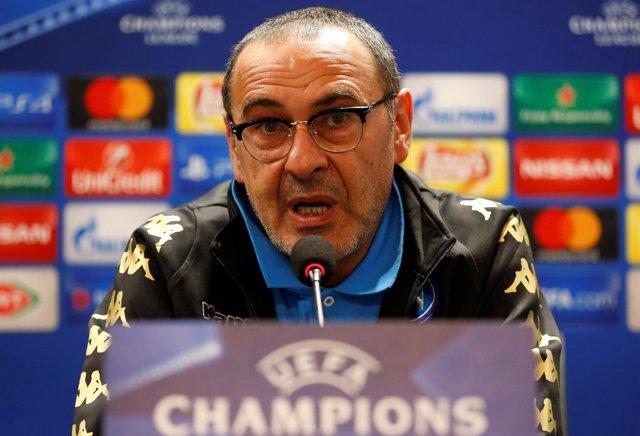 Maurizio Sarri, entrenador del Nápoles