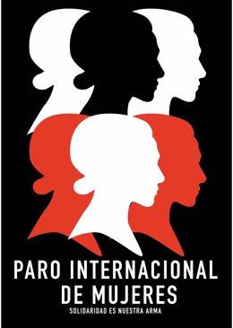 Cartel del Paro internacional de mujeres