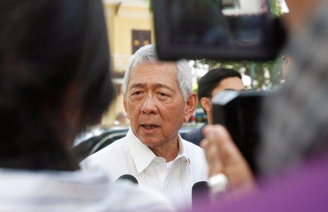 Ministro de Exteriores de Filipinas Perfecto Yasay