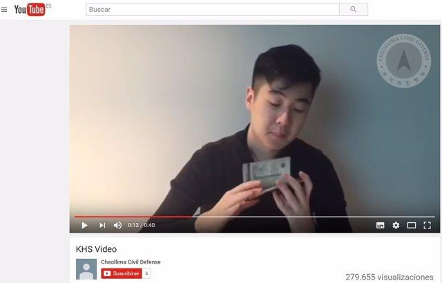 Captura del vídeo de un joven que dice ser el hijo de Kim Jong Nam