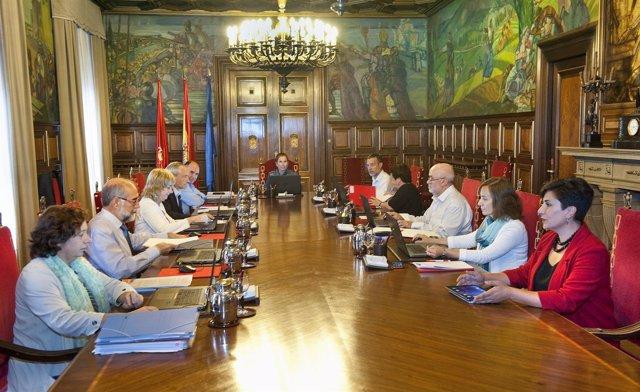 Sesión de Gobierno de Navarra.