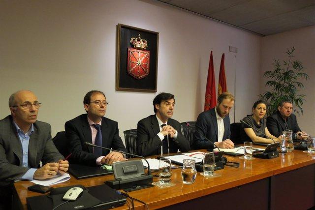 Ignacio Ugalde (ANEL), en el Parlamento de Navarra.