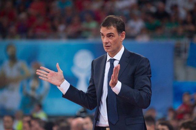 El Entrenador Del FC Barcelona Lassa, Georgios Bartzokas