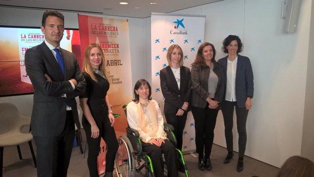 Presentación de la II Carrera de las Mujeres en Pamplona.