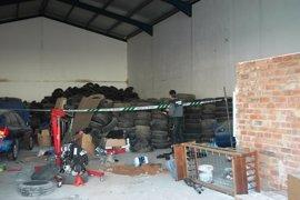 Localizado en Soria un almacén ilegal con 20 toneladas de neumáticos