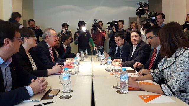 Reunión entre Ciudadanos y PSOE, Rafael González Tovar y Miguel Sánchez