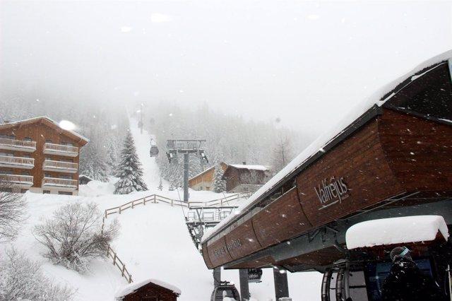 La estación de Valfréjus, en la región de Saboya, en los Alpes