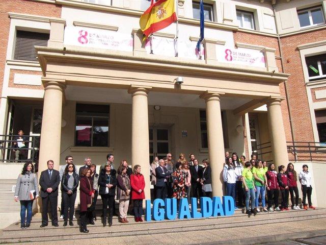 Acto del DIa Internacional de la Mujer en la Consejería de Políticas Sociales