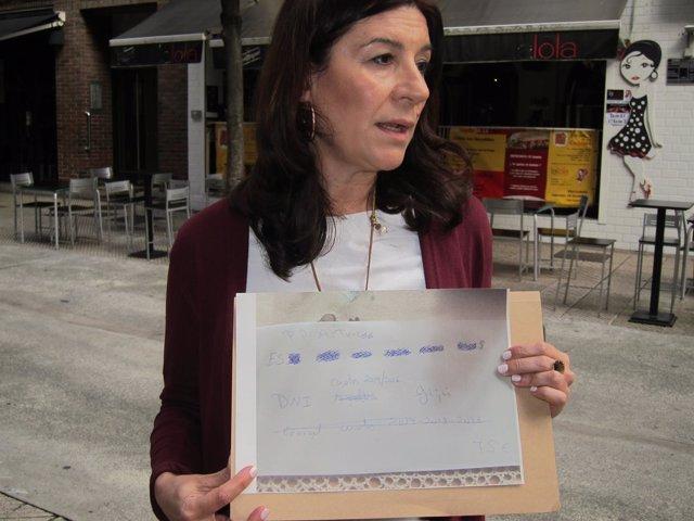 La precandidata al PP de Asturias y presidenta del PP de Avilés Carmen Maniega