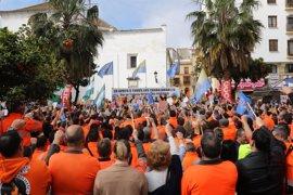 Unas 1.500 personas se manifiestan en Algeciras en apoyo a los estibadores