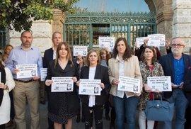 La presidenta de la Diputación encabeza el paro con motivo del Día de la Mujer