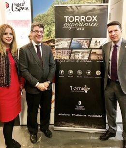 Extremera, Nadal y MEdina torrox itb berlín 2017 promoción turismo