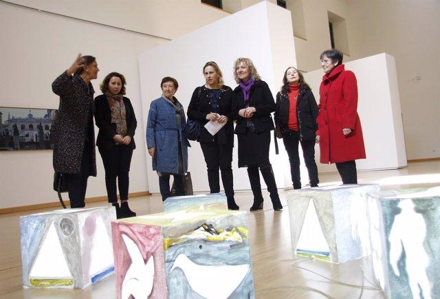 Inauguración de las exposiciones en la Biblioteca Central