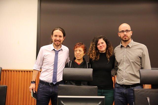 Unidos Podemos con Pablo Iglesias el Congreso