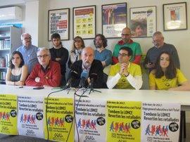 La comunidad educativa catalana se suma a la huelga para pedir la derogación de la LOMCE