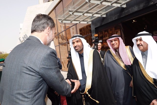 El Rey participa en un encuentro empresarial en la Cámara de Comercio de Riad