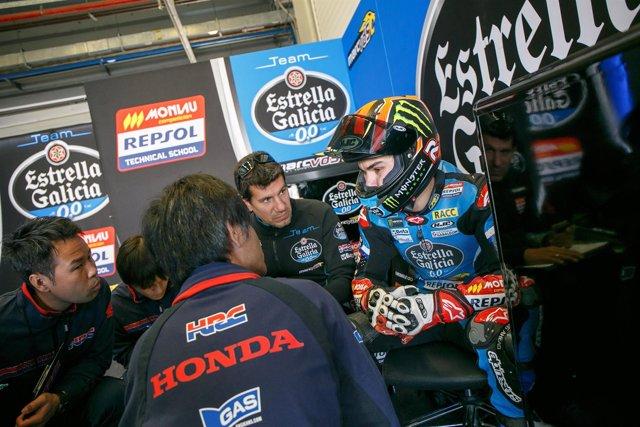 El piloto español de Moto3 Arón Canet