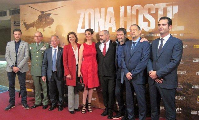 Preestreno de Zona Hostil, de Adolfo Martínez, en Almería