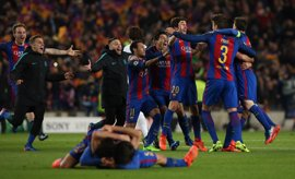 El FC Barcelona logra una remontada inédita de un 4-0 en Europa