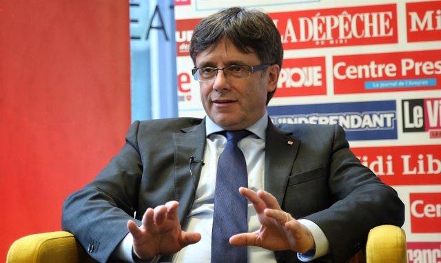 El presidente de la Generalitata, Carles Puigdemont
