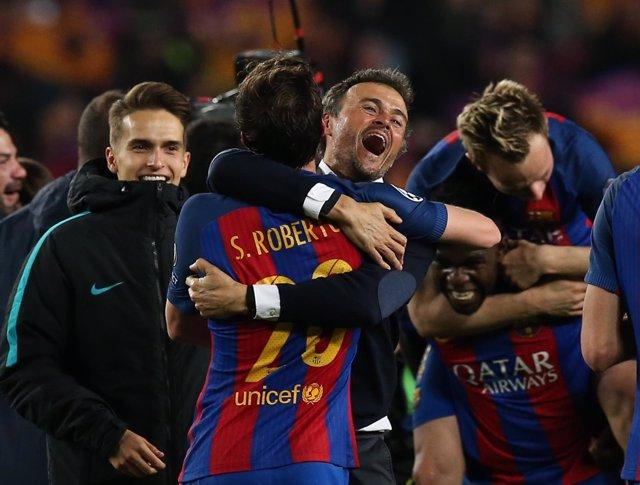 El entrenador del FC Barcelona, Luis Enrique Martínez