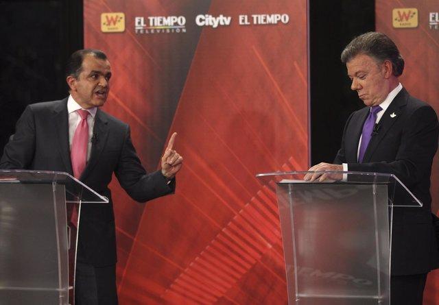 Zuluaga y Santos en el debate presidencial del 9 de junio