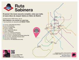 Sabina adelantará este jueves los temas de su nuevo disco en el Metro con una 'ruta sabinera'
