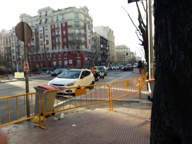 Obras en la calle Santa Engracia