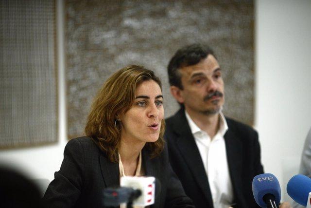 José Manuel López, candidato de Podemos a la Comunidad de Madrid, y Lorena Ruiz