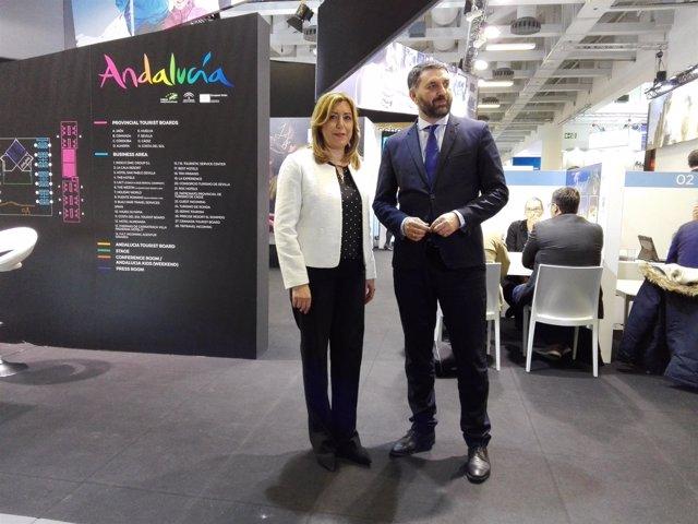 Susana Díaz visita la ITB de Berlín