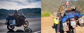 El cordobés que recorre el mundo en moto ha pasado por Europa, Asia y viaja ya por América, tras nueve meses