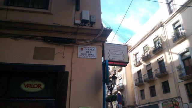 La calle del Negre Lloma, una de las cambiadas el pasado diciembre