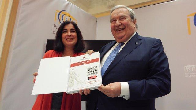 Carolina Darias y Jerónimo Saavedra
