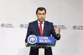 """'Génova' considera """"vigente"""" su pacto con Cs pero critica la actuación """"errática"""" de Rivera al unirse con PSOE y Podemos"""