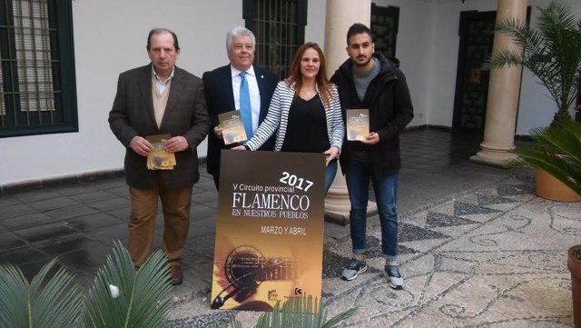 Barbero, durante la presentación del V Circuito Provincial de Flamenco