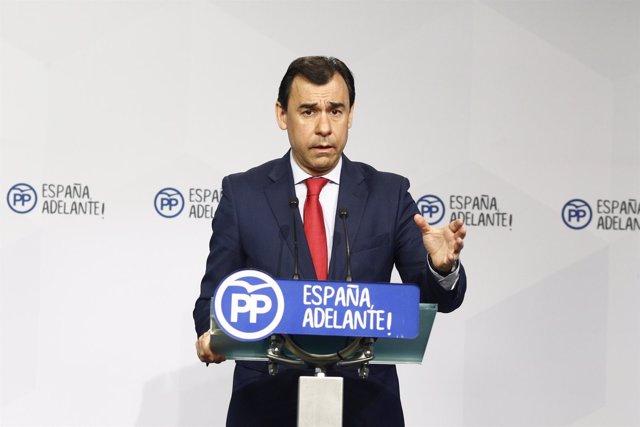 Rueda de prensa de Fernando Martínez Maillo en la sede del PP