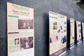 El Parlamento de Navarra acoge una exposición sobre la historia de las hermanas Úriz