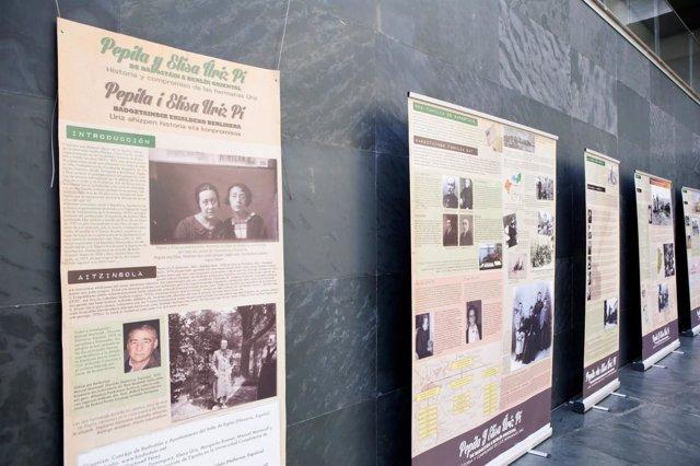 Exposición de las hermanas Uriz en el Parlamento de Navarra